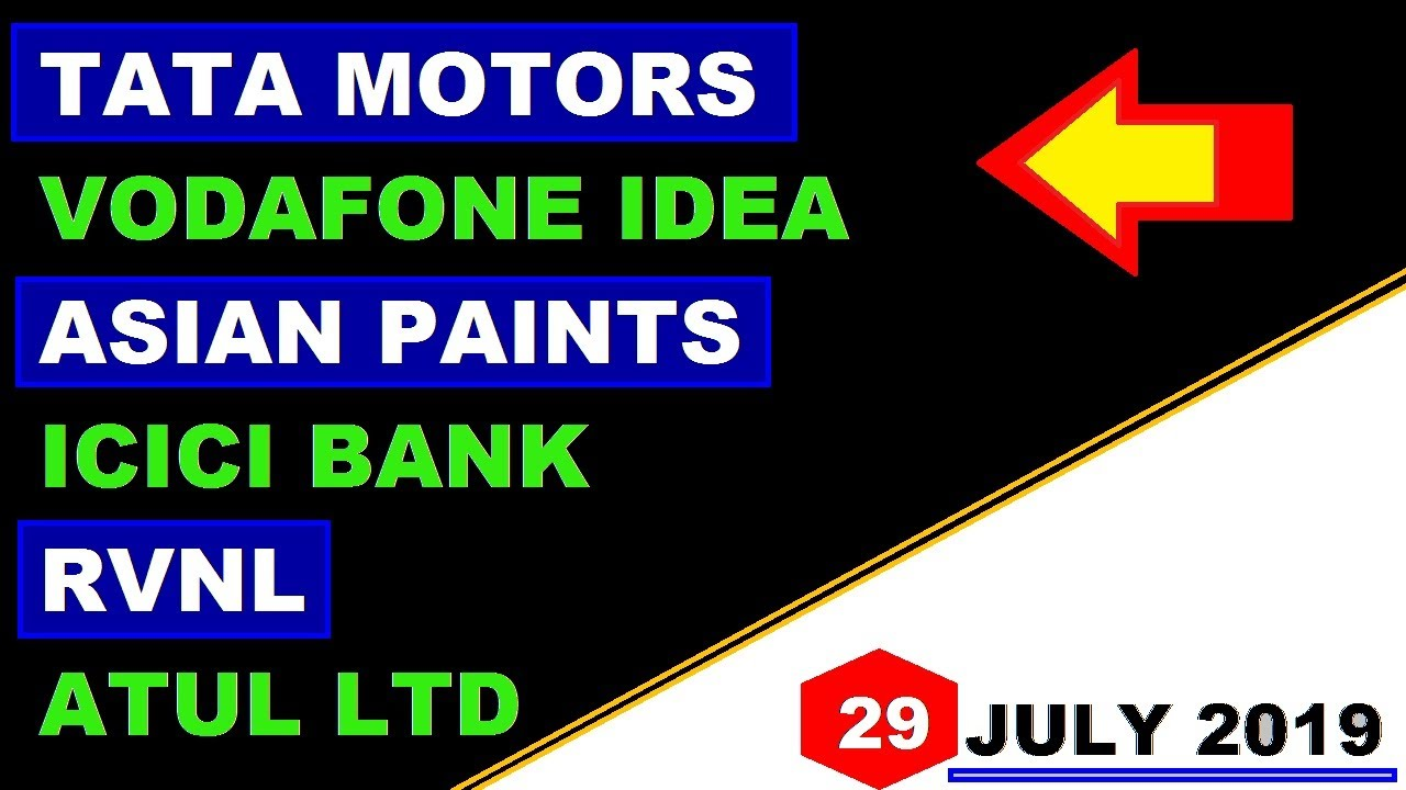 (TATA Motors) (ICICI Bank) (RVNL) (Vodafone idea) (Asian paint) (Atul LTD) stock market latest news