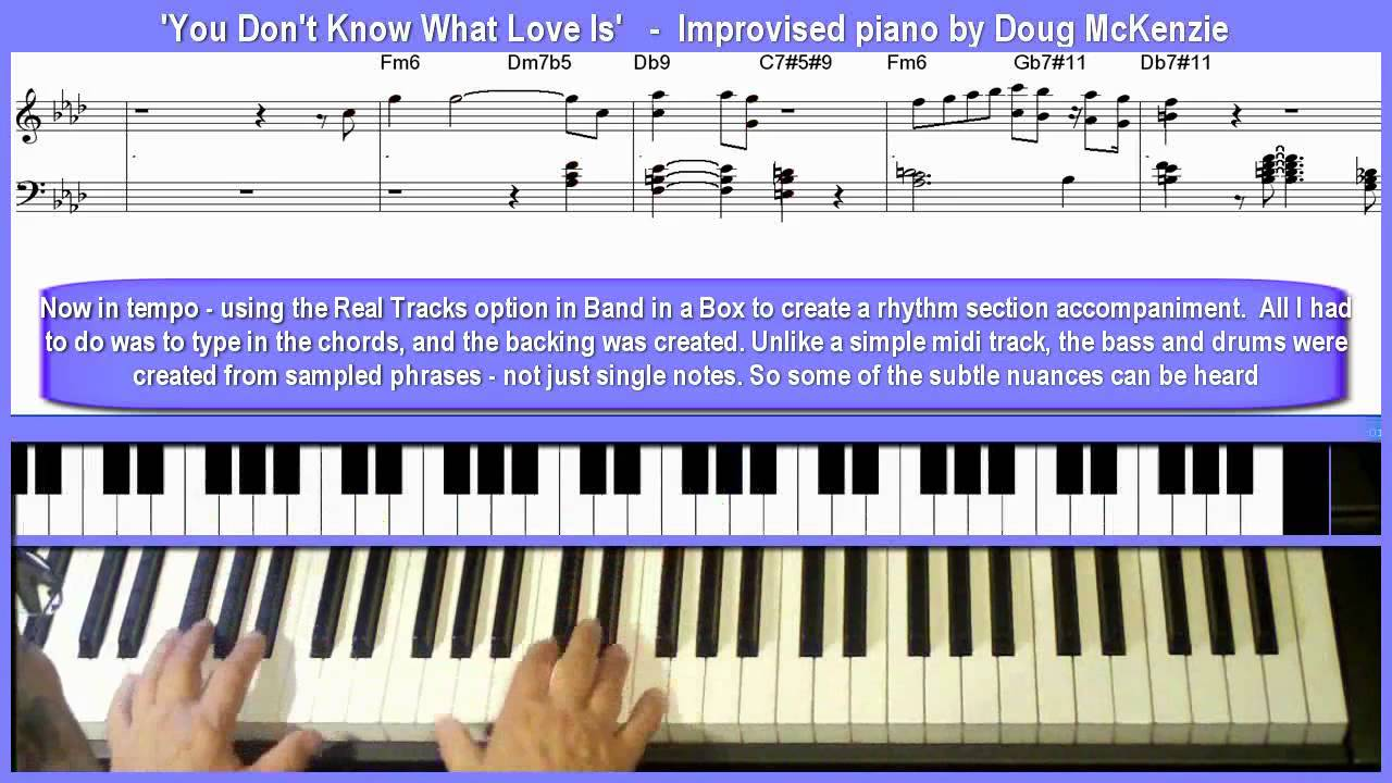 You Don\'t Know What Love Is\' jazz piano lesson - YouTube