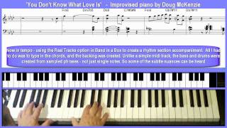 Video 'You Don't Know What Love Is' jazz piano lesson download MP3, 3GP, MP4, WEBM, AVI, FLV September 2018