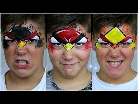 Angry Birds — Face Painting & Makeup Tutorial for Kids