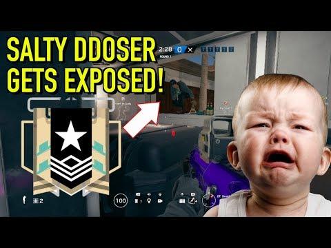 PLATINUM 1 DDOSER GETS EXPOSED - Rainbow Six Siege: Ranked Highlights