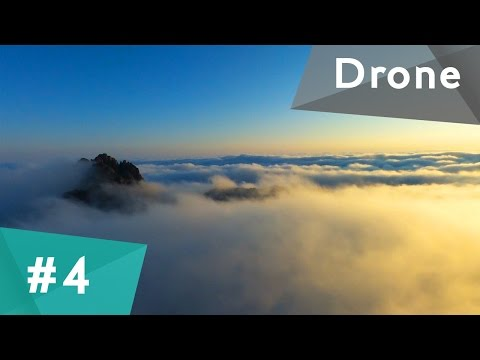 Yellow mountains, Huangshan drone footage