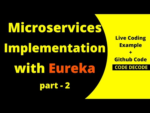 Microservice Example using Spring Boot with Eureka | Microservices Implementation in Spring Boot