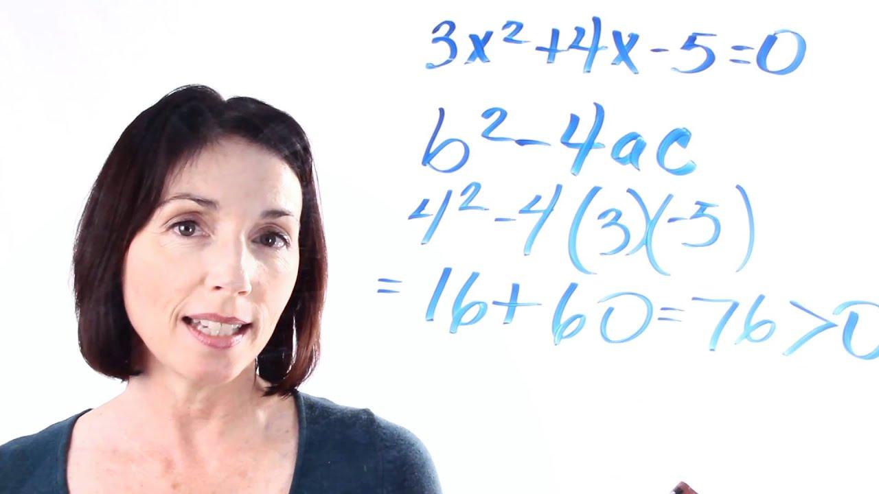 Nature Of Roots Quadratic Equation Discriminant Calculator