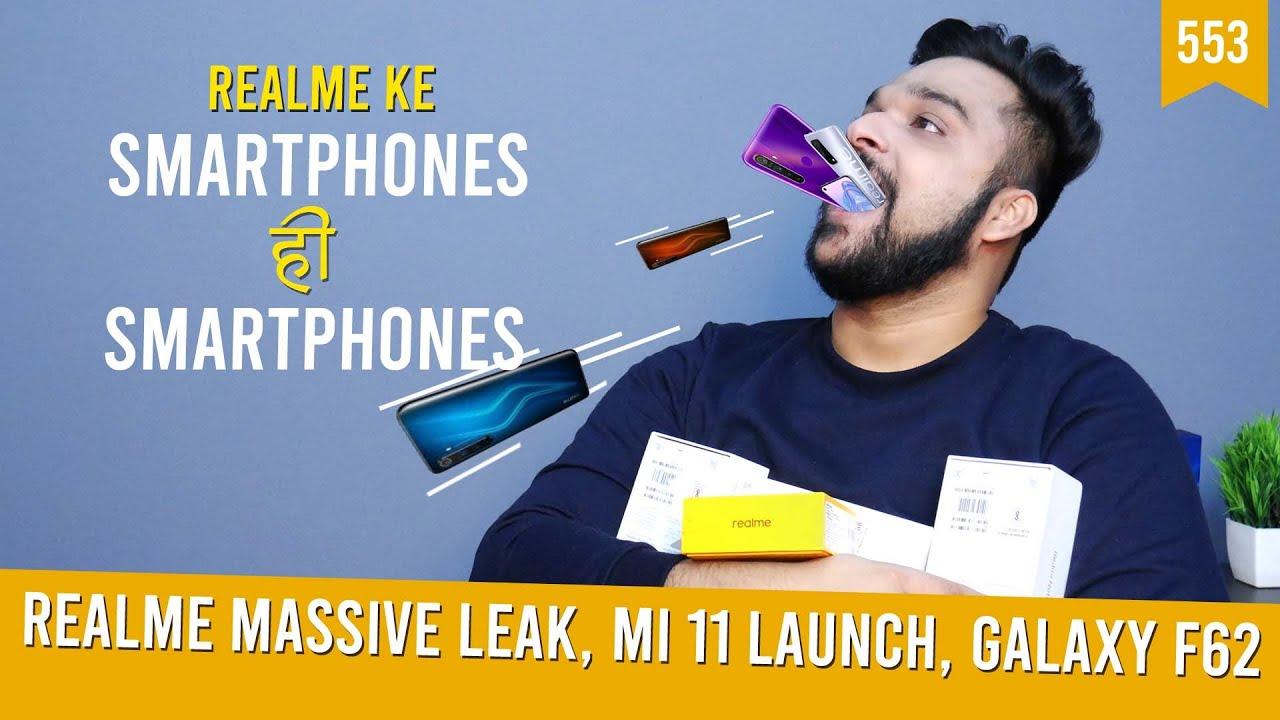 Realme massive leak, Mi 11 launch date, Samsung Galaxy F62 specs, Reno5 & Reno5 Pro pre-orders