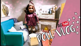 😛 AMERICAN  GIRL DOLL VLOG: NEW WALMART MY LIFE AS & FIXING THE LIVING ROOM