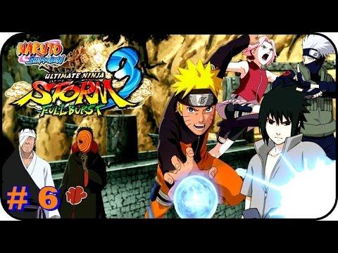 Naruto Shippuden Ultimate Ninja Storm 3 GAMEPLAY PARTE 6 SASUKE VS DANZO Y EL EQUIPO 7 REUNIDO