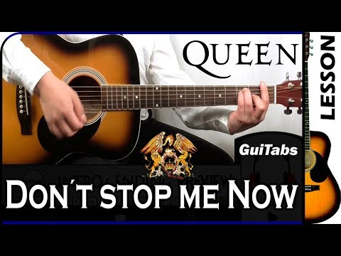 How To Play Don't Stop Me Now 🔥 - Queen / GuiTabs Guitar Tutorial 🎸