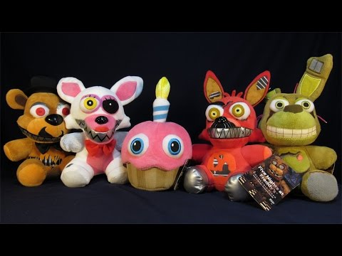 FIVE NIGHTS AT FREDDY'S WAVE 2 PLUSH TOYS SPRING TRAP, MANGLE, MR. CUPCAKE, NIGHTMARE FOXY, FREDDY
