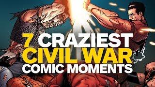 7 CRAZIEST Moments from Marvel's Civil War Comic