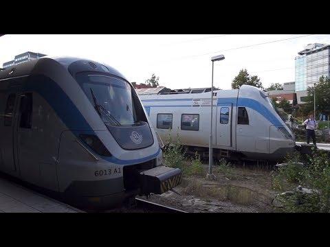 Sweden, train ride from Stockholm City to Södertälje Centrum
