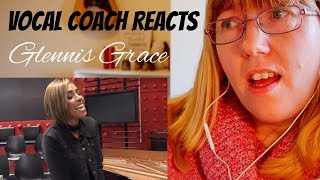 Vocal Coach Reacts to Glennis Grace 'Versace on the floor'