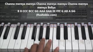 Channa Mereya Meraya (Piano Tutorials) | 7013658813 - PDF NOTES/BOOK - WHATS APP US