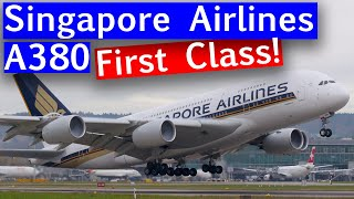 Singapore A380 First Class from Frankfurt to New York