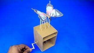 How to Make Amazing Butterfly Easy Automata Toy Trick