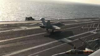 F-18 Carrier Landings on John C. Stennis