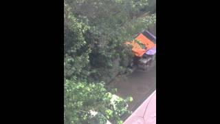 Rainy weather in Delhi