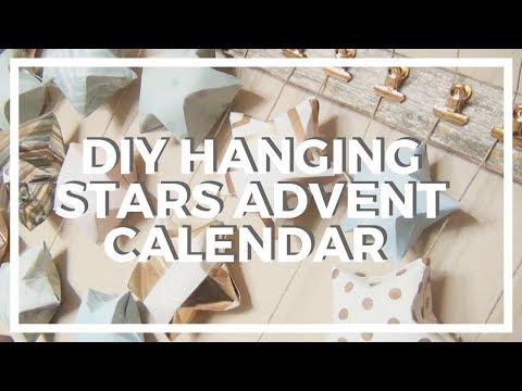 DIY Hanging Stars Advent Calendar ♥ 12 DIYs of Christmas 2017