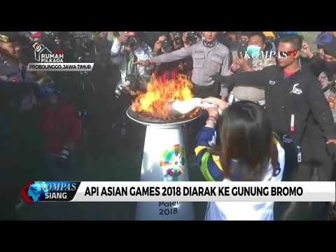 Api Asian Games 2018 Diarak Ke Gunung Bromo