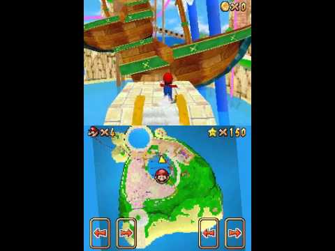 Super Mario Sunshine unofficially appears on the Nintendo DS