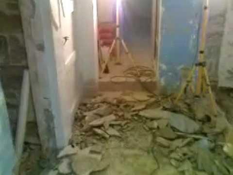 Reparation källare - start - YouTube