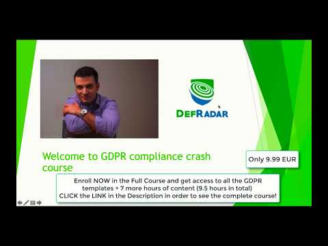 Learn GDPR Data Protection Compliance From Scratch With Practical Templates