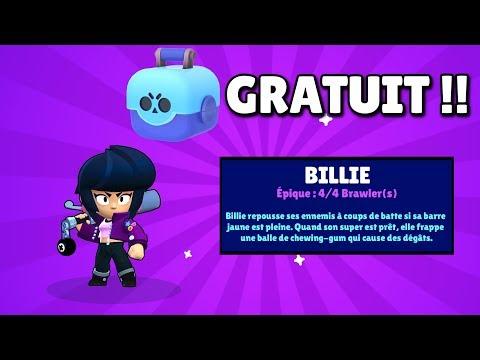 BRAWL STARS - JE PACK BILLIE DANS UNE BOITE GRATUITE !! EPIC REACTION