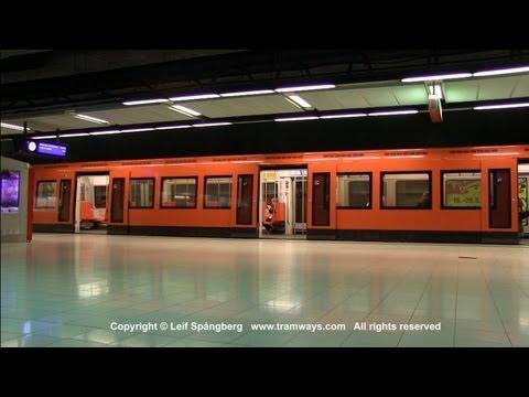 HKL / HST Metro trains at Ruoholahti / Gräsviken, Helsinki, Finland