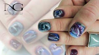 Модный маникюр - эффект мрамора . Как его делать / Nail Design - marble manicure. How to do it(Все о ногтевом мире - обучающие видео по наращиванию акрилом и гелем, правила правильного выполнения маникю..., 2015-05-19T15:51:25.000Z)
