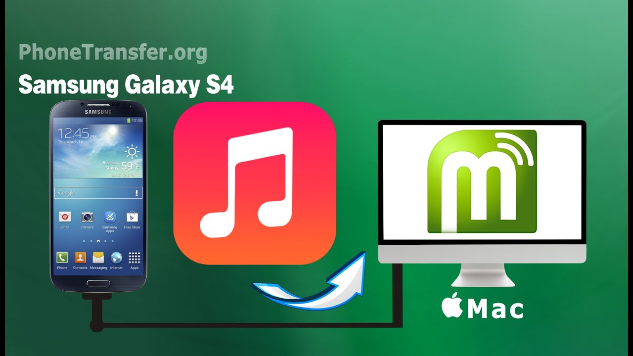 samsung galaxy s4 transfer music from mac