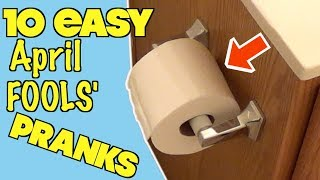 10 Easy April Fools' Day Pranks Anyone Can Do - HOW TO PRANK (Evil Booby Traps)