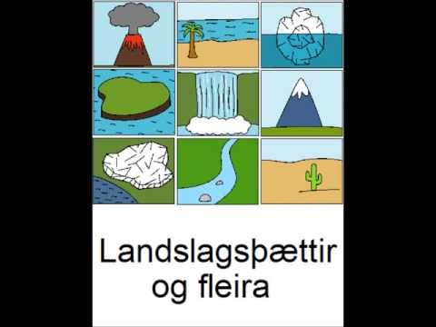 Icelandic Lesson #48: Land forms and more - Singular and Plural, Pronunciation