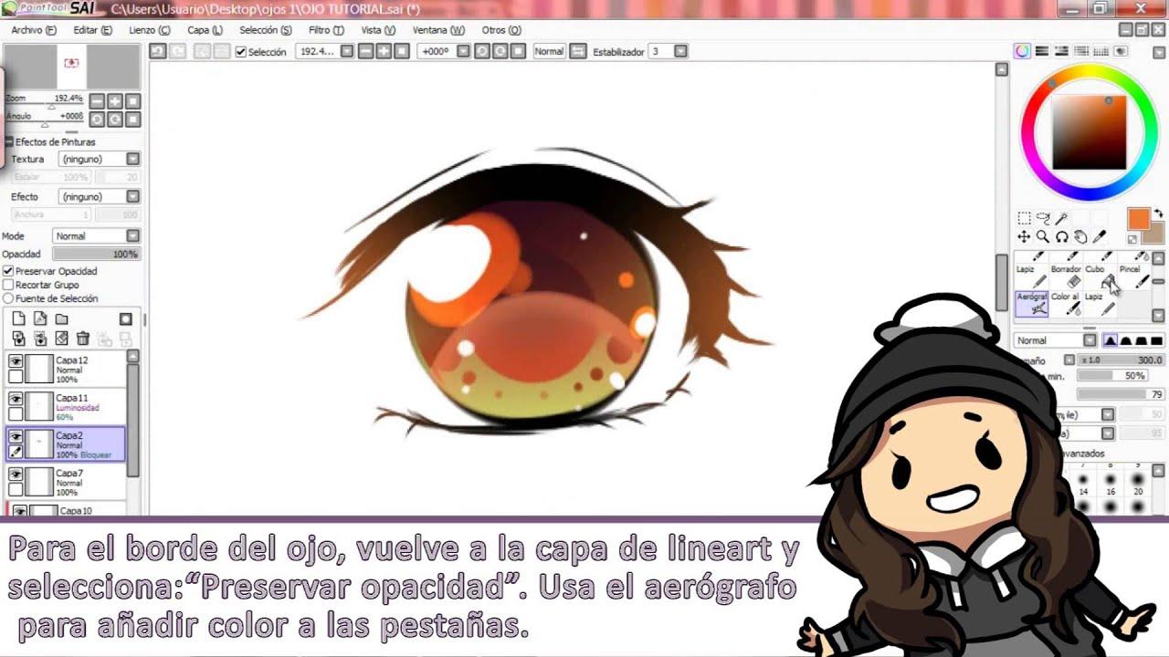 Tutorial de ojos MangaAnime AnimeManga eyes tutorial