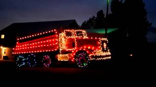 Xmas light dump truck