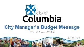 FY 2019 City Manager's Proposed Budget Press Conference