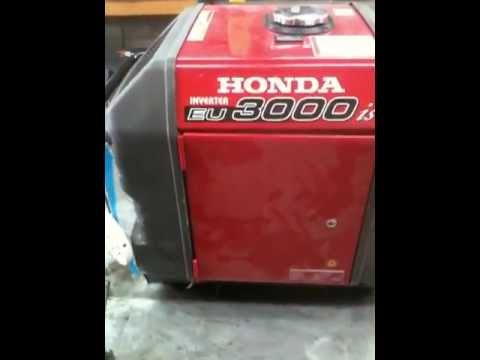 How To Clean Carburetor >> GENERATOR REPAIR: Honda eu3000is - YouTube