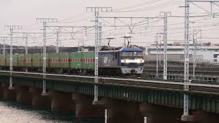 2018/11/06 JR貨物 第3浜名橋りょう爆走54レ 1068レに記念コンテナ2基