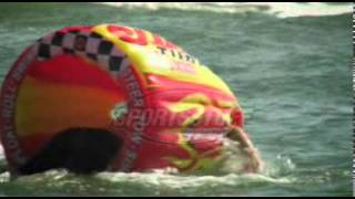 Sumo Towable Boat Tube with Splash Guard by Sportsstuff