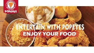 Popeyes Louisiana Kitchen Food Menu Review|How to Get $50 Gift Card to