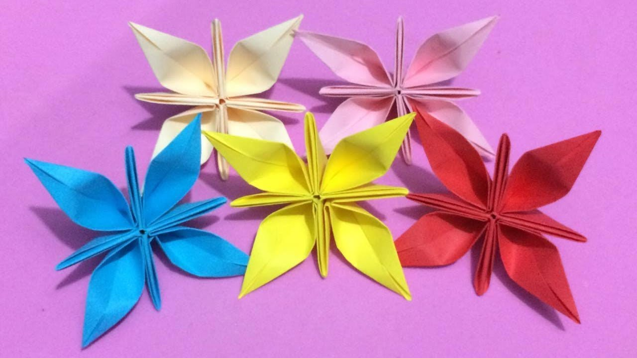 How to make origami flower with color paper diy paper flowers how to make origami flower with color paper diy paper flowers making mightylinksfo