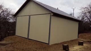 видео Как построить гараж из металлопрофиля своими руками