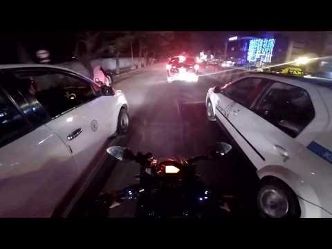 GoPro Hero 5 Black | 2017 | Bangalore | Night City Ride | Bajaj Pulsar 220 | Time Lapse