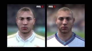 Fifa 12 faces and Fifa 13 faces comparison (Real Madrid)