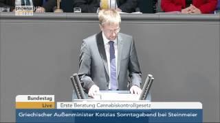 Bundestag: Debatte zum Cannabiskontrollgesetz am 20.03.2015