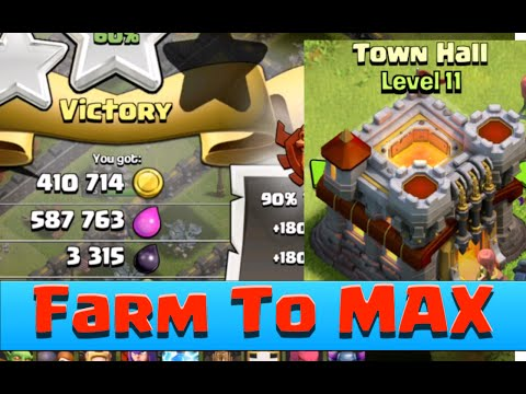 Clash of Clans TH11 First ATTACK AFTER UPDATE INSANE LOOT! Farm TH11 TO MAX!