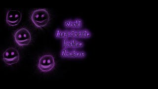 World Anti-Suicide Hotline Numbers
