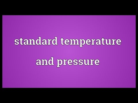 Standard temperature and pressure Meaning