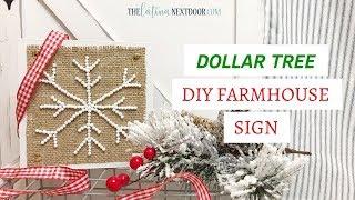 DIY Dollar Tree Farmhouse Christmas Decor | Farmhouse Christmas Sign 2018