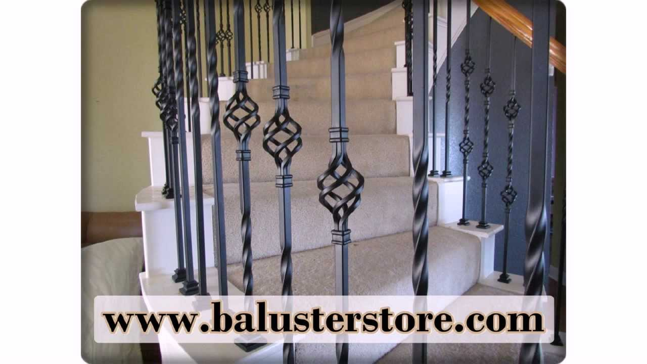 Powder Coated Iron Stair Accessories. Stair Building Supplies, Iron  Balusters, Iron Stair Parts