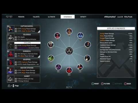 Marvel Heroes Omega PS4 - Build Breakdown - Kitty Pryde (Phasing Build)